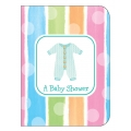 Baby Clothes Baby Shower Invites (8), 